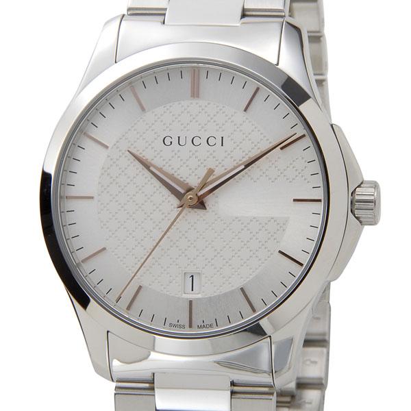 グッチ GUCCI 腕時計 メンズ YA126442 G-タイムレス ミディアム クォーツ シルバー 新品 [ポイント5倍キャンペーン][8/3~8/17]