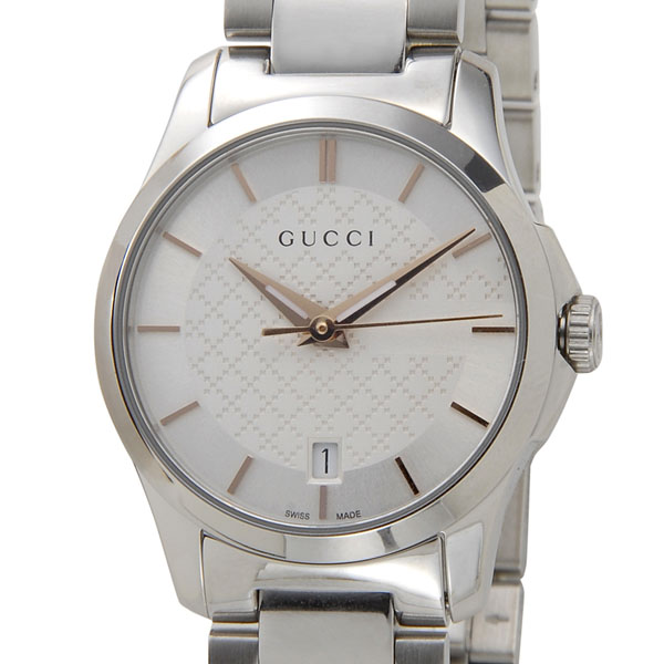 2b446fc1739 s-select  GUCCI Gucci watch ladies YA126523 g-timeless quartz silver ...