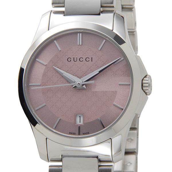 グッチ GUCCI 腕時計 レディース YA126524 G-タイムレス クォーツ ピンク×シルバー 新品