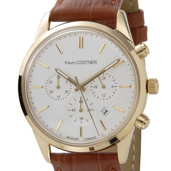 【NewYearSALE】割引セール ジャックルマン JACQUES LEMANS メンズ 腕時計 KC-103B ケビンコスナー・コレクション クロノグラフ クォーツ SS革ベルト 新品 【送料無料】