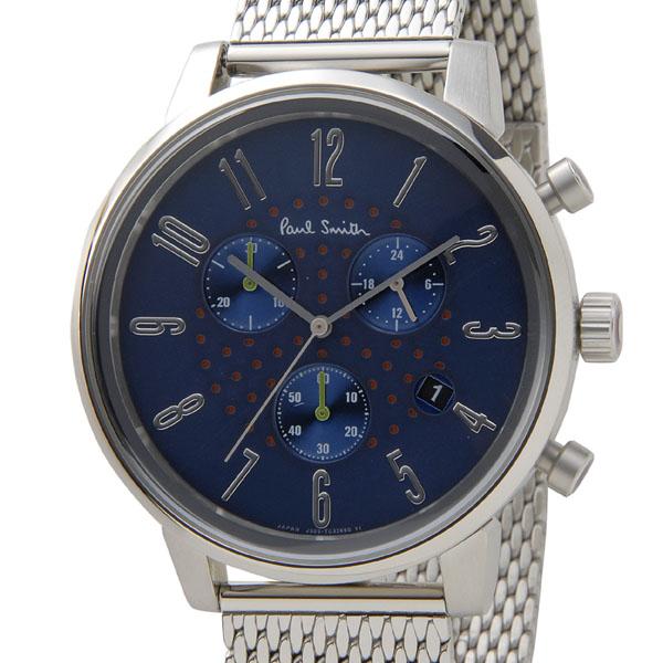 ポールスミス Paul Smith 時計 腕時計 メンズ BR4-012-71 チャーチ ストリート クロノグラフ ネイビー×シルバー 信頼の日本製 ブティックモデル 新品