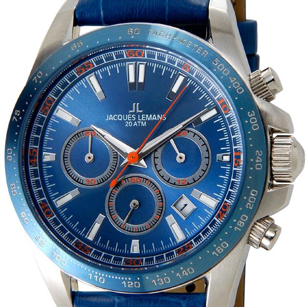 ジャックルマン JACQUES LEMANS メンズ 腕時計 1-1836B ケビンコスナー・アンバサダー・モデル クロノグラフ 革ベルト 新品