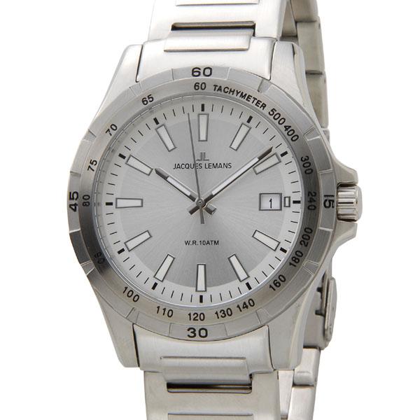 ジャックルマン JACQUES LEMANS 腕時計 メンズ 1-1790G モントリオール 43mm シルバー 新品 【送料無料】 [ポイント5倍キャンペーン][8/3~8/17]