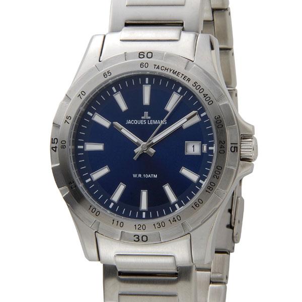ジャックルマン JACQUES LEMANS 腕時計 メンズ 1-1790H モントリオール 43mm ブルー 新品 【送料無料】 [ポイント5倍キャンペーン][8/3~8/17]