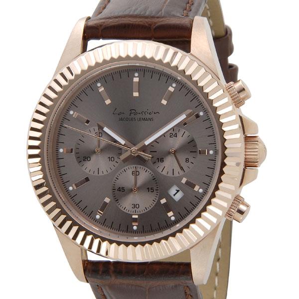 ジャックルマン JACQUES LEMANS 腕時計 レディース LP-111D ラ・パッション 42mm グレーブラック×ピンクゴールド 新品 [ポイント5倍キャンペーン][8/3~8/17]