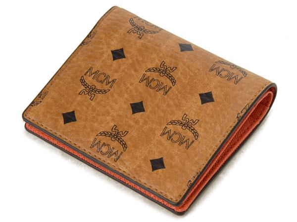 MCM エムシーエム 二つ折り財布 小銭入れ無し カードケース YA 5SVC70 CO001 コニャックCBxoeWQrdE