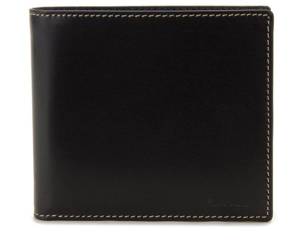 訳あり 内側小銭入れ蓋部変色 ポールスミス Paul Smith 二つ折り財布 ANXA 1033 W742 B レザー ブラック メンズ