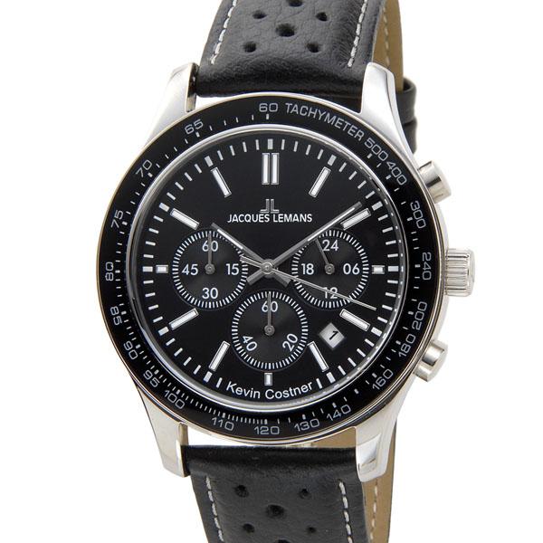 ジャックルマン JACQUES LEMANS メンズ 腕時計 11-1586-11 ケビンコスナー・コレクション クォーツ クロノグラフ デイトP10SP