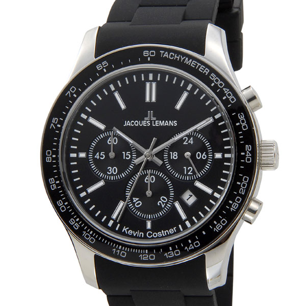 ジャックルマン JACQUES LEMANS メンズ 腕時計 11-1586-6 ケビンコスナー・コレクション クォーツ クロノグラフ デイト 新品 [ポイント5倍キャンペーン][8/3~8/17]