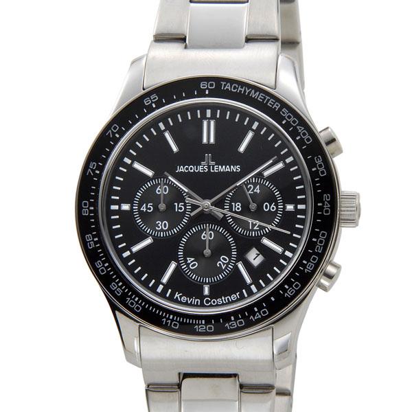 ジャックルマン JACQUES LEMANS メンズ 腕時計 11-1586-8 ケビンコスナー・コレクション クォーツ クロノグラフ デイト 新品 【送料無料】 [ポイント5倍キャンペーン][8/3~8/17]