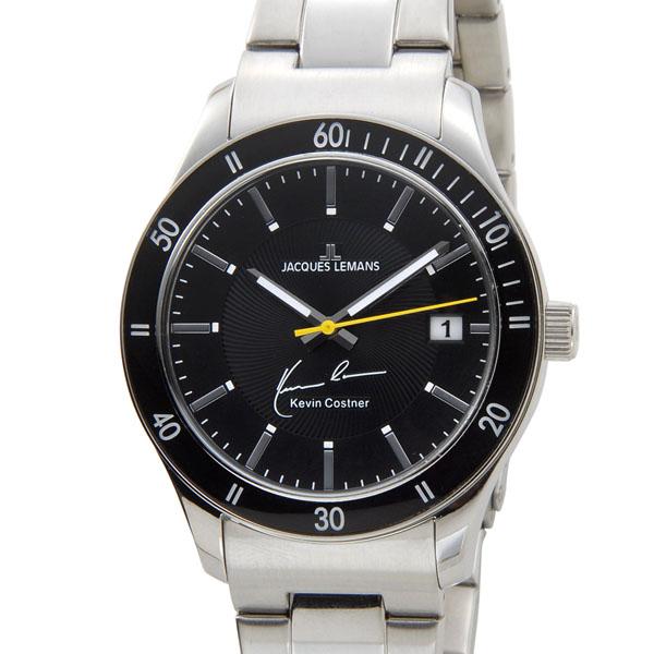 ジャックルマン JACQUES LEMANS メンズ 腕時計 11-1622-7 ケビンコスナー・コレクション クォーツ デイト サイン入り 新品 【送料無料】