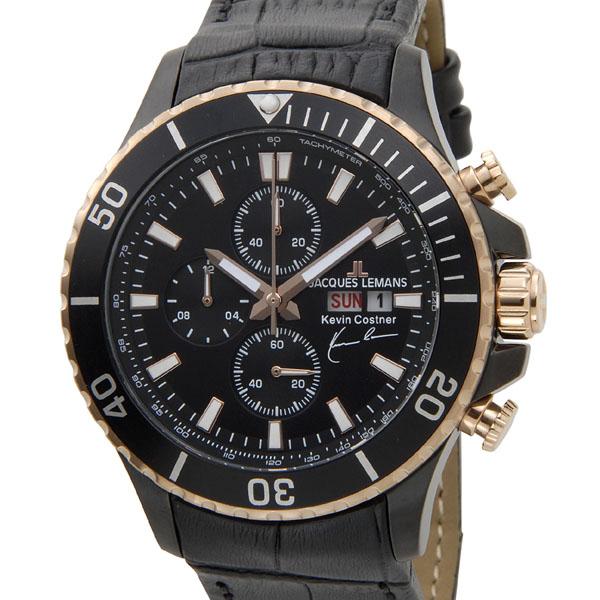 ジャックルマン JACQUES LEMANS メンズ 腕時計 11-1787-1 ケビンコスナー・コレクション クォーツ クロノグラフ デイト 新品 【送料無料】 [ポイント5倍キャンペーン][8/3~8/17]