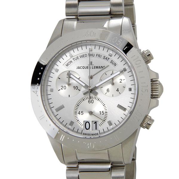 ジャックルマン JACQUES LEMANS 40周年記念モデル 40-10A クロノグラフ デイト レトログラード スイス製  100m防水 SWISS MADE 腕時計 メンズ 新品 【送料無料】