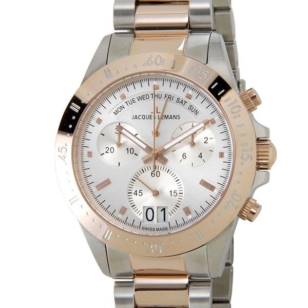 ジャックルマン JACQUES LEMANS 40周年記念モデル 40-10B クロノグラフ デイト レトログラード 100m防水 腕時計 メンズ 新品