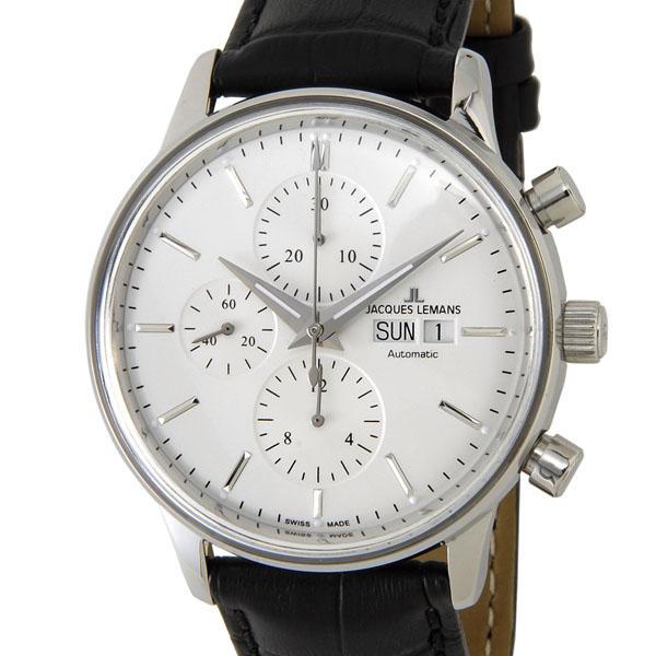 ジャックルマン JACQUES LEMANS N-208A クラシック クロノグラフ デイデイト スイス製 オートマティック 腕時計 メンズ 新品