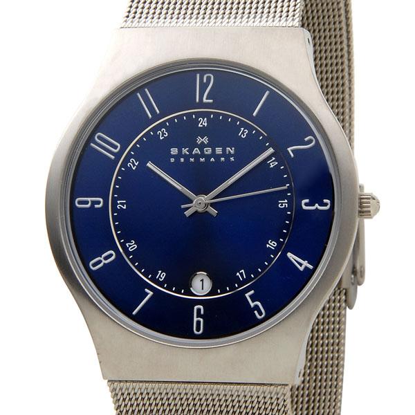 スカーゲン SKAGEN 233XLTTN 腕時計 メンズ チタニウム ブルー 新品