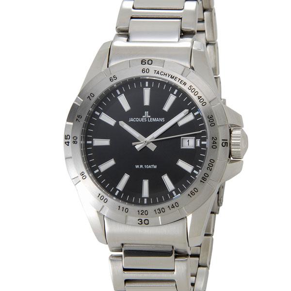 【NewYearSALE】割引セール ジャックルマン JACQUES LEMANS 1-1903A リバプール デイト メンズ 腕時計 ブラック 【送料無料】