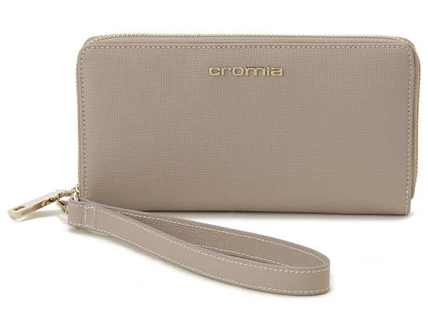 クロミア cromia ラウンドファスナー長財布 2640366-ND イタリア製 ヌード