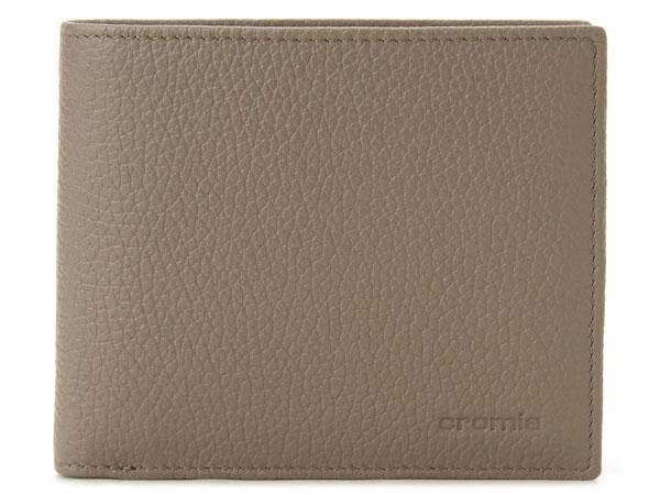 クロミア cromia 二つ折り財布 2400027-DS イタリアレザー ベージュグレー×イエロー P10SP