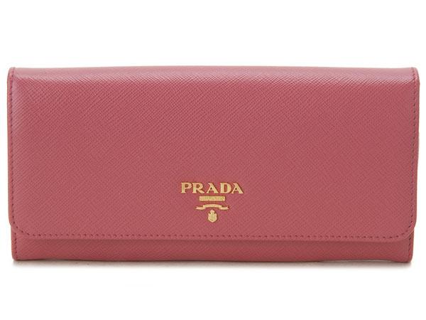 プラダ PRADA 長財布 1MH132-QWA-F0505 サフィアーノ ピンク 新品