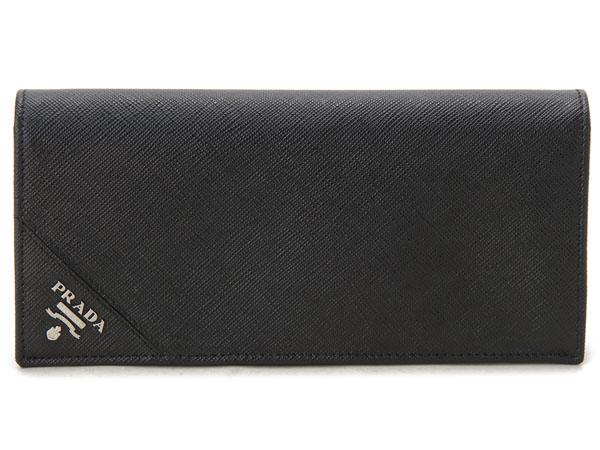 プラダ PRADA 長財布 2MV836-QME-F0002 サフィアーノ ブラック 新品 【送料無料】