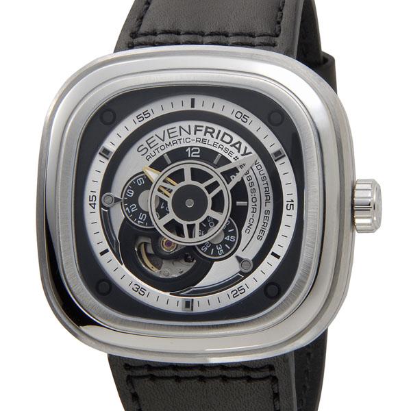 セブンフライデー SEVENFRIDAY メンズ 腕時計 Pシリーズ インダストリアル エッセンス SF-P1/01 ブラック×シルバー P10SP