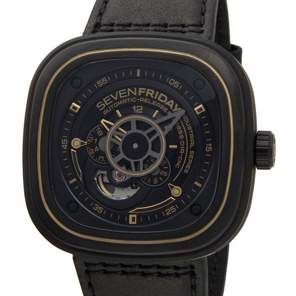 セブンフライデー SEVENFRIDAY メンズ 腕時計 Pシリーズ インダストリアル レボリューション SF-P2/02 ブラック×シャンパン P10SP