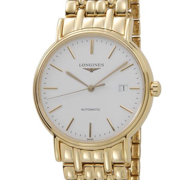 時計セール ロンジン LONGINES L4.921.2.12.8 プレサンス オートマ 自動巻き ゴールド メンズ 腕時計 新品