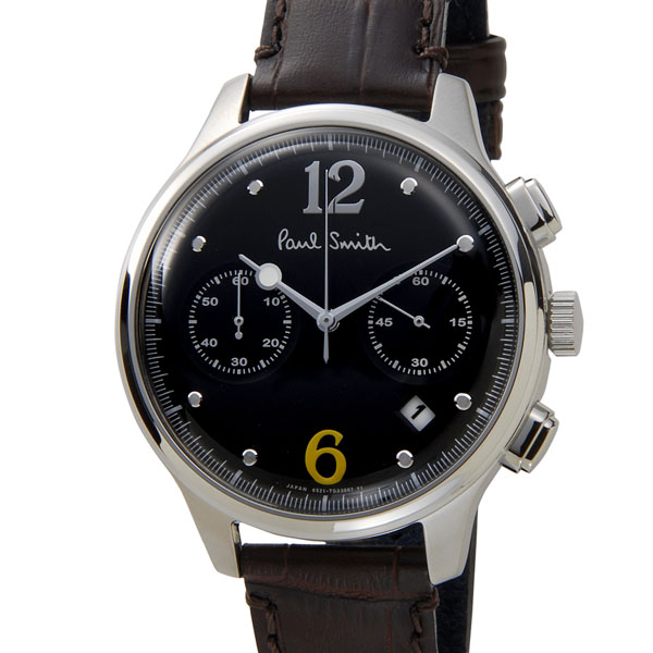 クリアランスセール ポールスミス Paul Smith 時計 腕時計 BX2-019-52 シティ クラシック クロノグラフ ブラック 信頼の日本製 ブティックモデル 新品