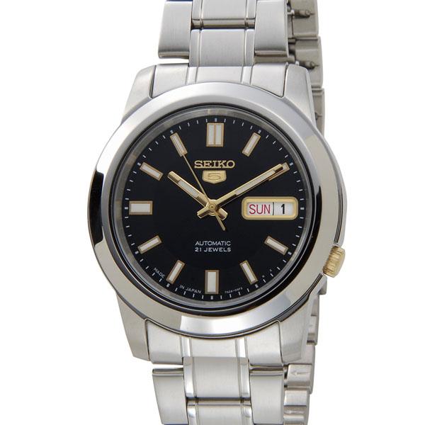 セイコー 腕時計 SEIKO セイコーファイブ SEIKO5 SNKK17J1 日本製 自動巻き ブラックP10SP