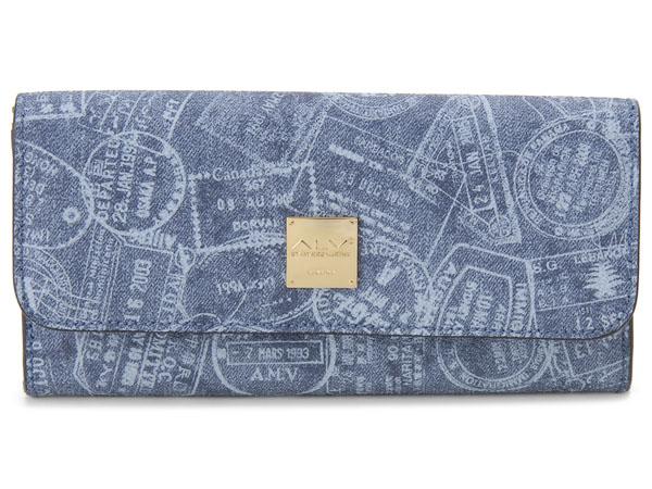 ALV エーエルブイ 長財布 WB5021-41-507 パスポートライン ブルー イタリア製 新品