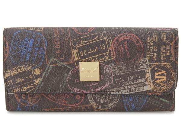ALV エーエルブイ 長財布 WB5021-41-602 パスポートライン モカ・ブラウン イタリア製 新品