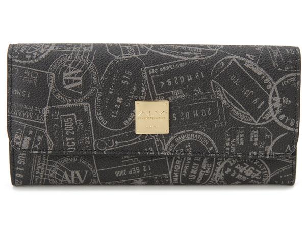 ALV エーエルブイ 長財布 WB5021-41-902 パスポートライン ブラック P10SP