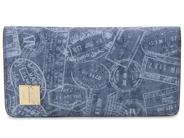 ALV エーエルブイ 長財布 WB5022-41-507 パスポートライン ブルー イタリア製 MADE IN ITALY 新品 【送料無料】