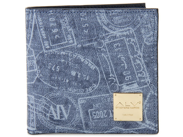 ALV エーエルブイ 二つ折り財布 WB5023-41-507 パスポートライン ブルー イタリア製 MADE IN ITALY 新品