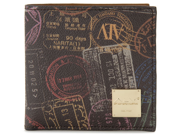ALV エーエルブイ 二つ折り財布 WB5023-41-602 パスポートライン モカ・ブラウン イタリア製 MADE IN ITALY 新品
