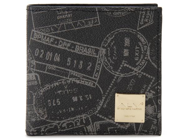 ALV エーエルブイ 二つ折り財布 WB5023-41-902 パスポートライン ブラック P5SP