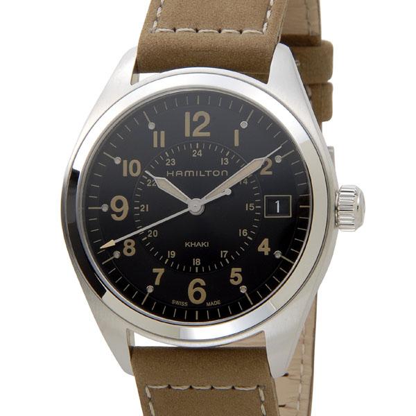 ハミルトン HAMILTON カーキ フィールド H68551833 ブラック×ベージュレザー メンズ 腕時計 新品