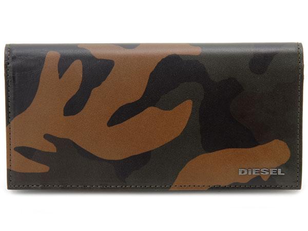 訳あり 背面押しキズあり ディーゼル DIESEL 長財布 X04129 P1074 H5477 カモフラージュ メンズ