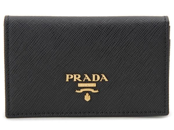 プラダ PRADA 名刺入れ カードケース 1MC122-QWA-F0002 SAFFIANO ブラック 新品 【送料無料】