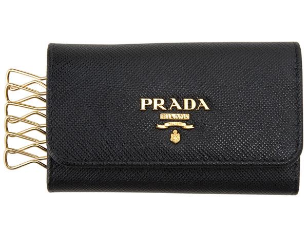 プラダ PRADA キーケース 1PG222-QWA-F0002 SAFFIANO ブラック 【送料無料】