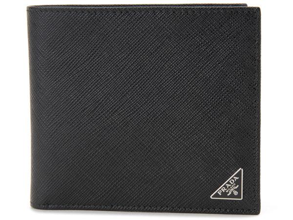 プラダ PRADA 二つ折り長財布 2MO738 QHH F0002 ブラック メンズ 新品