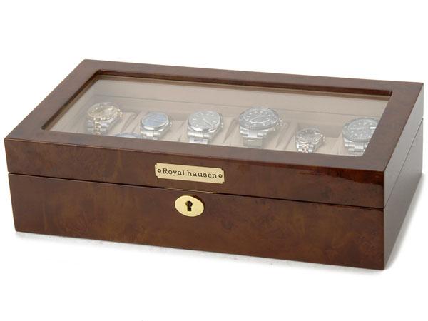 ロイヤルハウゼン Royal hausen 時計収納ケース 腕時計 12本収納 ケース GC02-LG3-12 ウォッチケース ブラウン 時計雑貨P10SP