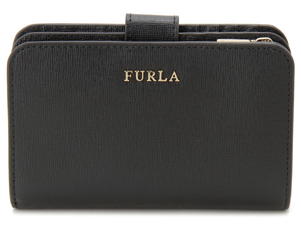 FURLA フルラ 二つ折り財布 872836 BABYLON M バビロン コンパクト財布 ブラック 新品