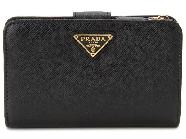 PRADA プラダ 長財布 1ML225 QHH F0002 SAFFIANO サフィアーノ 二つ折り ミディアム財布 ブラック 新品