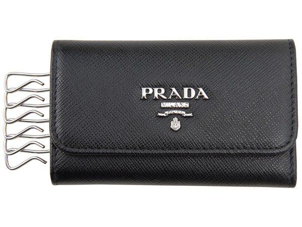 PRADA プラダ キーケース 1PG222 QWA F0632 サフィアーノ NERO ブラック メンズ/レディース P10SP