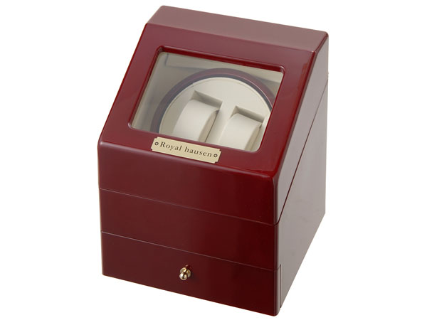 Royal hausen ワインダー 時計収納ケース付きワインダー2本巻3本収納 SR073 RD ワインディングマシーン 腕時計/自動巻き機 新品 【送料無料】 [ポイント5倍キャンペーン][8/3~8/17]