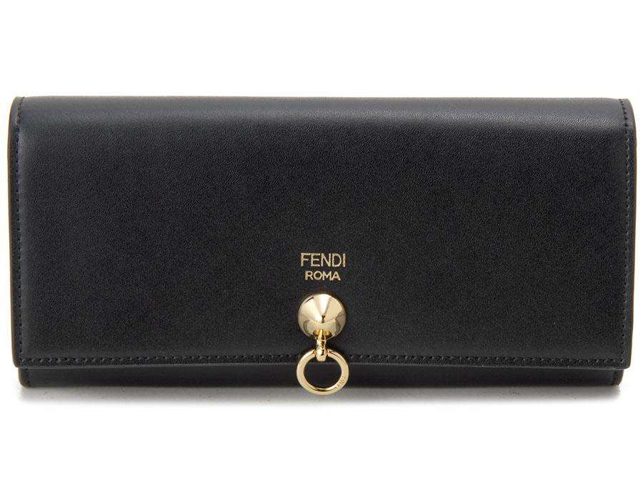 フェンディ FENDI 長財布 8M0251 SME F0KUR 二つ折り長財布 ブラック レディース 新品