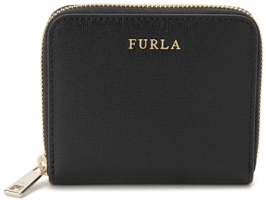 FURLA フルラ 二つ折り財布 907856 バビロン コンパクト 財布 ONYX オニキス ブラック レディース 新品
