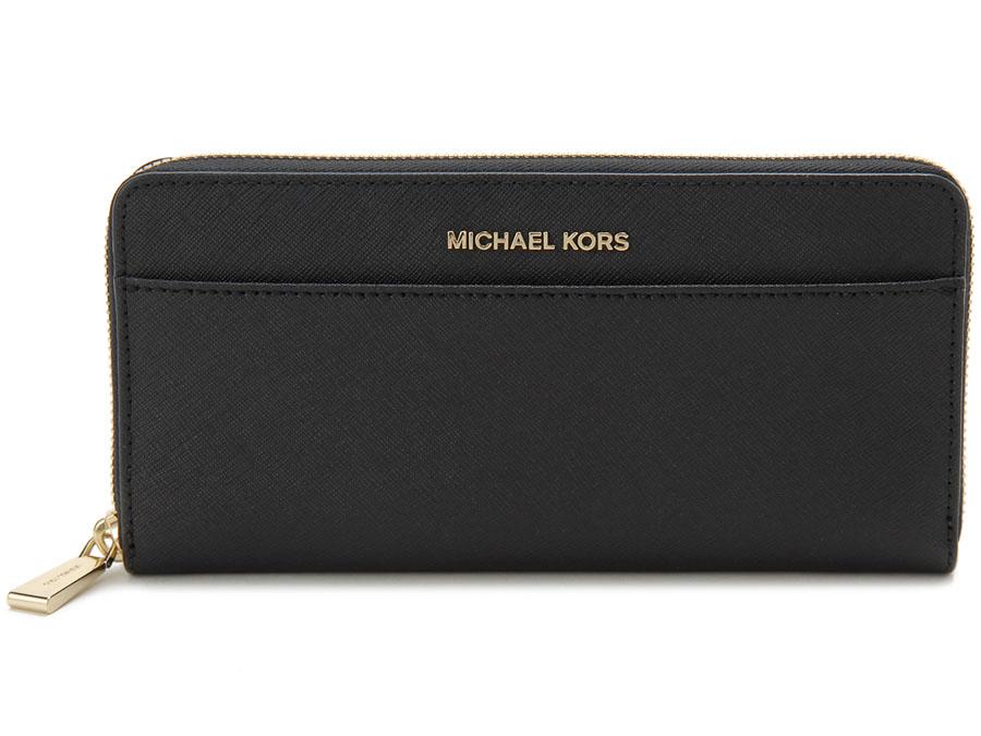 マイケルコース ラウンドファスナー長財布 MICHAEL KORS 32T7GTVZ3L-001 ブラック 新品